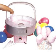 Rent a Cotton Candy Machine for any event.  Pink or Blue Sugar Floss with 75 Cones.  Chicago, Illinois cotton candy machine rental.